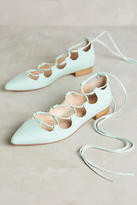 Anthropologie Billy Ella Lace-Up Flats
