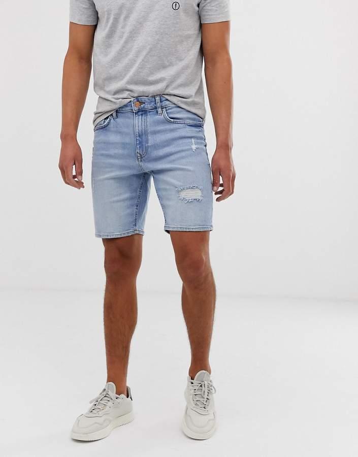 f45ea8570b Mens Ripped Denim Shorts - ShopStyle