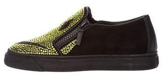 Giuseppe Zanotti Strass Suede Sneakers w/ Tags