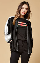 Motel Rocks Batwing Satin Bomber Jacket