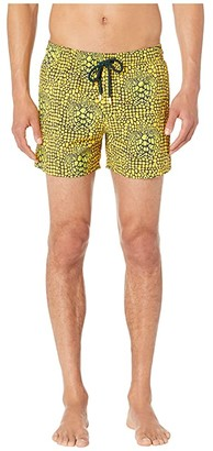Vilebrequin Moorise Shell Turtles Superflex Swim Trunks (Cedrat) Men's Swimwear