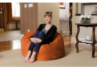Chill Sack 3 ft Memory Foam Microsuede Bean Bag Chair, Multiple Colors
