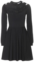 Valentino Lace-trimmed Jersey Dress