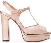 L'Autre Chose metallic platform sandals - women - Leather - 36