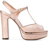 L'Autre Chose metallic platform sandals - women - Leather - 40