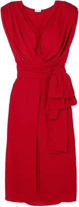 Magda Butrym Silk-crepe Midi Wrap Dress