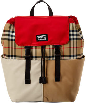 Burberry Tri-Color Adjustable Vintage Check Backpack