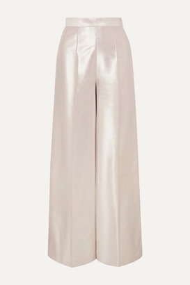 RALPH & RUSSO Lame Wide-leg Pants - Silver