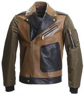 DSQUARED2 Light Brown Leather Chiodo Jacket