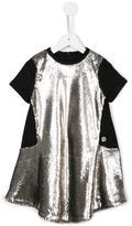 Roberto Cavalli flared glitter panel dress