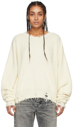 Unravel Off-White Oversized Chopped Sweater