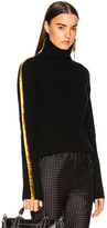 Haider Ackermann Side Band Turtleneck Sweater in Black,Yellow.