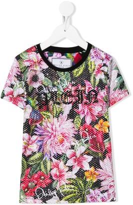 Philipp Plein Flowers rhinestone-embellished T-shirt
