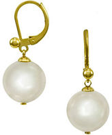 Majorica Goldtone and Drop Pearl Earrings