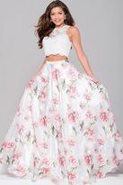 Jovani Floral Two-Piece Dress JVN41771