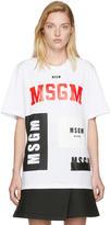 MSGM White Multi Logo T-shirt