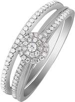 Love DIAMOND 9ct White Gold 25 Point Diamond Bridal Ring Set