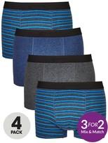 Very 4 Pk Blue Stripe Trunks Multi