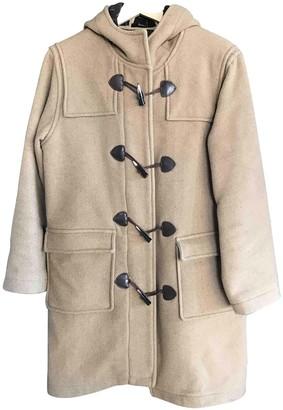Barbour Beige Wool Coat for Women