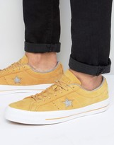 One Star Converse Trainer In Yellow 153718c