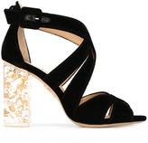 Charlotte Olympia 'Apollo' sandals - women - Leather/Velvet - 36