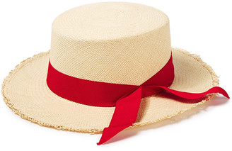Sensi Canvas-trimmed Frayed Toquilla Straw Panama Hat