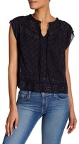 Rebecca Taylor Sheer Embroidered Silk Blouse