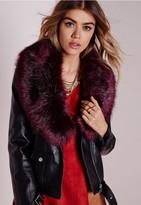 Missguided Faux Fur Wrap Purple