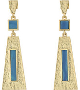 Vince Camuto Textured Three Part Drop Earrings