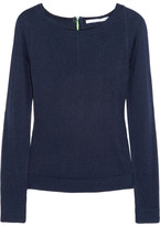 Diane von Furstenberg New Noa zip-back silk and cashmere-blend sweater