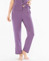 Soma Intimates Satin Trim Pajama Ankle Pant Shadow Plum
