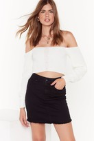 Nasty Gal Womens Be With You in a Mini Denim Skirt - black - 12