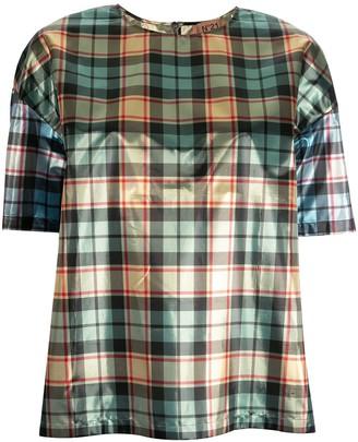 No.21 boxy check T-shirt
