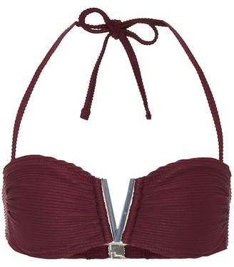 Heidi Klein Hamptons V-bar bandeau bikini top
