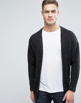 Pull&Bear Knitted Cardigan In Black