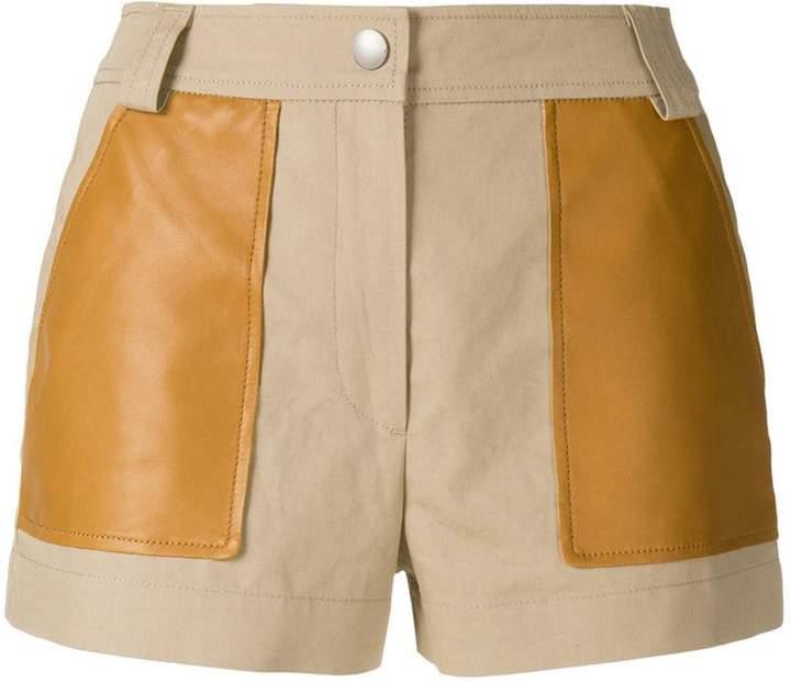 Yves Salomon contrast pocket shorts