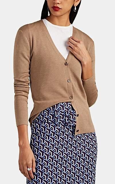 Prada Women's Cashmere-Silk V-Neck Cardigan - Camel
