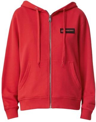 Burberry Aubree Zip Hoodie Check & Logo Sleeve Hoodie