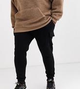 Asos Design ASOS DESIGN Plus skinny joggers with cargo pockets in black