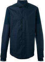 Marni pin-striped sleeve detail shirt - men - Cotton/Wool - 46