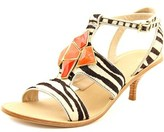 Trina Turk Elsa Women Open Toe Suede Multi Color Sandals.