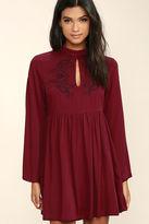 MinkPink Mink Pink Valley of the Vine Black Embroidered Dress