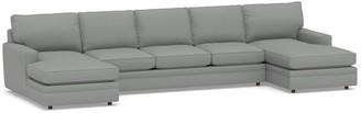 Pottery Barn Pearce Square Arm Upholstered U Double Chaise Sectional