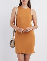 Charlotte Russe Ribbed Sleeveless Shift Dress