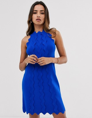Ted Baker Rianori knitted swing dress-Blue