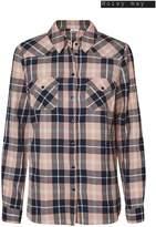 Next Womens Noisy May Long Sleeve Check Shirt - Pink