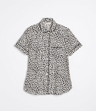LOFT Cheetah Print Pajama Top