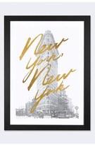 iCanvas 'Gilded New York' Framed Fine Art Print