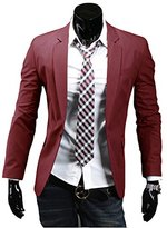 Easy Stylish Men Casual Slim Fit One Button Suit Pop Business Blazer Coat Jacket