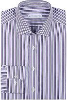 Etro Men's Mixed-Stripe Cotton Poplin Shirt-PURPLE